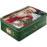 Nostalgic-Art 30738 Santa Clause | Vorratsdose Flach | Nostalgische Keks-Dose aus Metall mit...