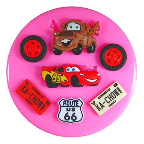 Lightning Mcqueen Cars Mater Moule en silicone Moule pour décoration gâteau glaçage pour gâteau Sugarcraft outil de fées Blessings