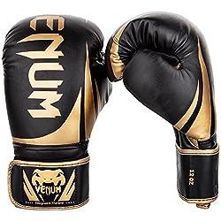 Venum Adult Boxing Gloves Challenger 2.0, Black / Black Matt, 14 oz