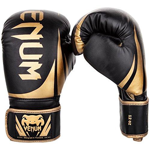 Venum Challenger 2.0 Guantes de Boxeo, Unisex Adulto, Negro / Dorado, 12 Oz