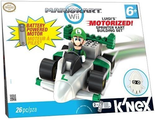 K'NEX Mario Kart Wii Building Set  Luigi's Motorized Sprinter Kart by K'Nex