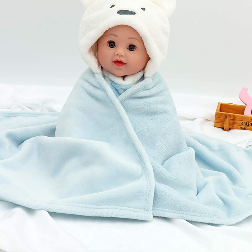 ZLMI Bébé Corail Velours Couverture Bébé Automne Et Hiver Sac De Couchage Extérieur Couvre Couverture Est 0-1 Ans (Bleu) Produits pour Bébés G