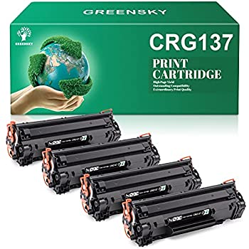 GREENSKY Compatible Toner Cartridge Replacement for Canon 137 CRG137 ImageClass LBP151dw D570 MF211 MF212w MF216n MF217w MF227dw MF229dw MF232w MF236n MF244dw MF247dw Printer Black 4-Pack