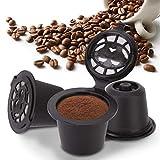 Filtros de café, 3 uds, Cápsulas de café reutilizables para el hogar, filtro de cápsulas recargables, apto para uso familiar(Negro)