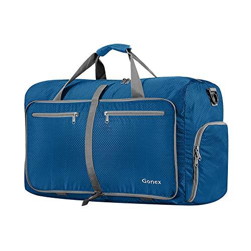 Gonex Leichter Faltbare Reise-Gepäck 40L, Farbe: Dunkelblau, Duffel Taschen Uebernachtung Taschen/Sporttasche für Reisen Sport Gym Urlaub