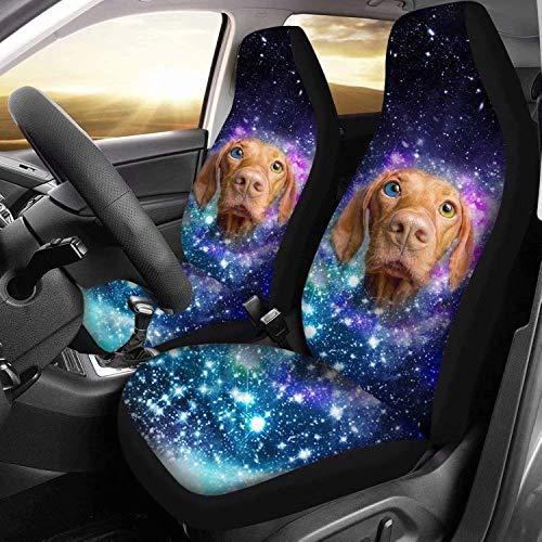 Bernice Winifred - Funda para asiento de coche con diseño de perro para asientos delanteros, juego completo de 2 unidades, para coche, camión, SUV o furgoneta