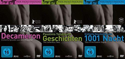 Pier Paolo Pasolini TRILOGIE DES LEBENS : Decameron + Pasolinis tolldreiste Geschichten + Erotische Geschichten aus 1001 Nacht 3 DVD Edition