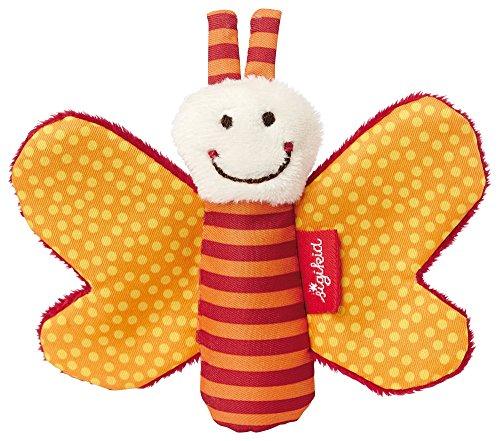 SIGIKID 41181 Greifling Schmetterling Red Stars Mädchen und Jungen Babyspielzeug empfohlen ab Geburt orange
