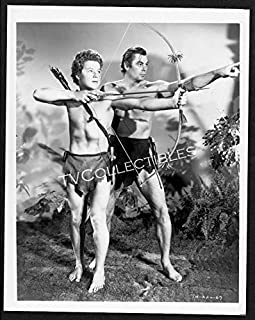8x10 Photo~Tarzan Movies ~Johnny Weissmuller ~Johnny Sheffield ~Bow & Arrow ~CS