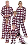 PajamaGram Christmas Pajamas for Family - Fleece Button-Up, Fireside, 12 Months