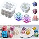 Moldes de fabricación de jabón de vela de silicona de soja 3D Rubik Cube Molde de silico...