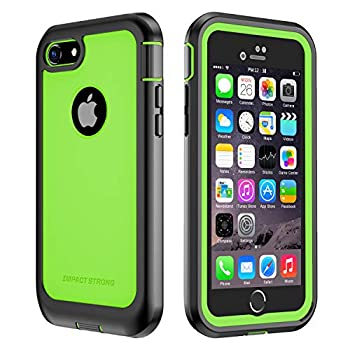 iPhone 7/8 Case ImpactStrong Ultra Protective Case with Built-in Clear Screen Protector Full Body Cover for iPhone 7 2016 /iPhone 8 2017  Lime Green