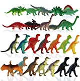 GiftExpress 72 pcs Mini Dinosaur Toys, Kids Toy Dinosaur Figures, Cupcake Toppers Dinosaurs Figurines, Dinosaurs Party Favors, Cake Topper, Playset Toys
