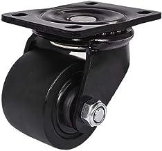 Hemobllo Swivel Plate Caster Wheels Heavy Duty Plate Casters Swivel Mute Bearing Rubber Wheels for Baby Crib Carts Furnitu...