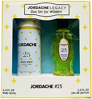 Jordache Legacy Duo Set For Women! Included: Body Spray 4.4 Fl. Oz And Eau De Parfum 4.4 Fl. Oz! Perfect For Women Gift Set! Choose Your Scent! (No. 25)