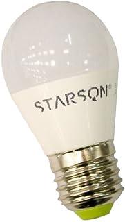 Starson Bombilla Esférica Led Profesional 6400k E27, 6 W, Blanco