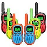 Retevis RA617 Walkie Talkies Niños, cargable Juguetes de 3 a 12 Años con Linterna LCD Retroiluminada 16 CH VOX, Regalo para Aventuras Exteriores, Cámping, Senderismo (6 Piezas)
