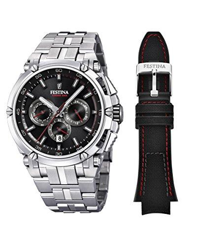 Festina Herren Chronograph Quarz Uhr mit Edelstahl Armband F20327/6