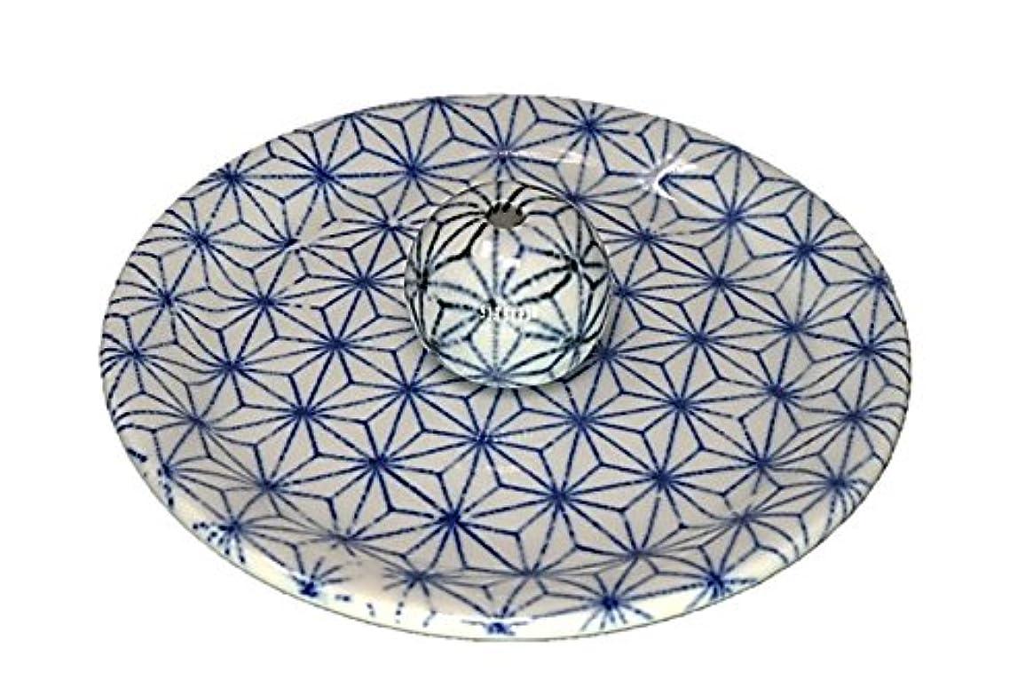 容量粘土寺院9-53 麻葉 お香立て 9cm香皿 お香たて 陶器 日本製 製造?直売品