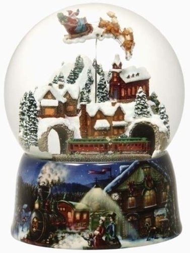 Large Victorian Christmas Village Musical & Animated Snow Globe