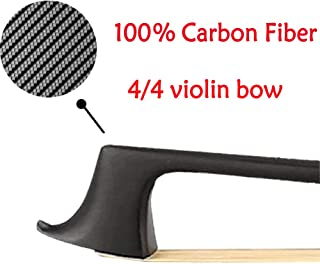 Carbon Fiber Violin Bow 4/4 Full Size with Mongolian Horse Hair Well Banlaned Light Weight