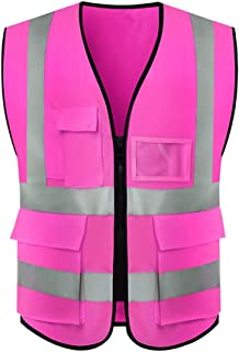 FJFSC Cycling Vest High Visibility Waistcoat Safety Jacket Unisex Reflective Coat