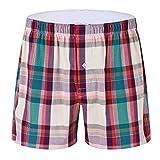Cinnamou Homme Bas de Pyjama Shorts, Homme Coton sous-vêtements Caleçon Boxer Trunk Bas de Pyjama Vêtements de Nuit Homme Ceinture élastique Ajustable