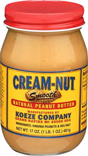 Cream Nut Peanut Butter Natural, 17 oz