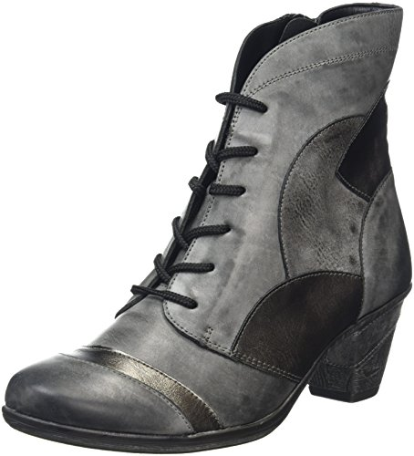 Remonte Damen D8774 Combat Boots, Grau (Negro/Altsilber/Asphalt 01), 41 EU