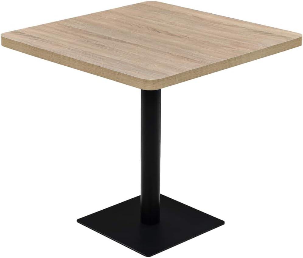GOTOTOP Max 85% OFF Square Bistro Table Super intense SALE Garden Tabl Oak Colour