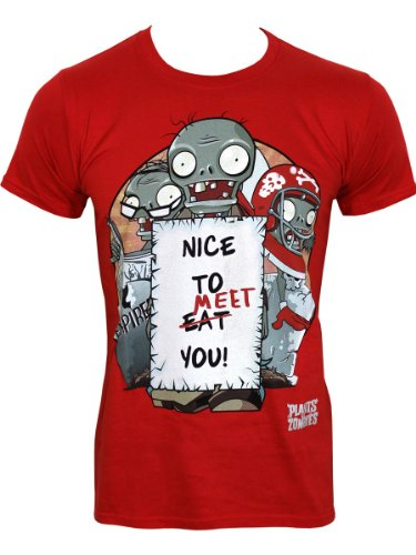 Plants vs Zombies T-Shirt -S- Nice to meet you,rot