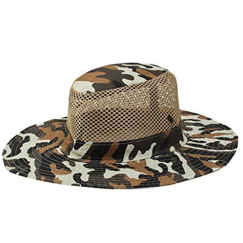 FRAUIT dames en heren camouflage zonwering caps uv-bescherming zonnehoed met 25 cm nekbescherming 11 cm grote rand hoed voor outdoor activiteiten Safari vissen camping tuinwerk