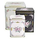 GreenGate- Tin Square Box/Blechdosen Set of 3