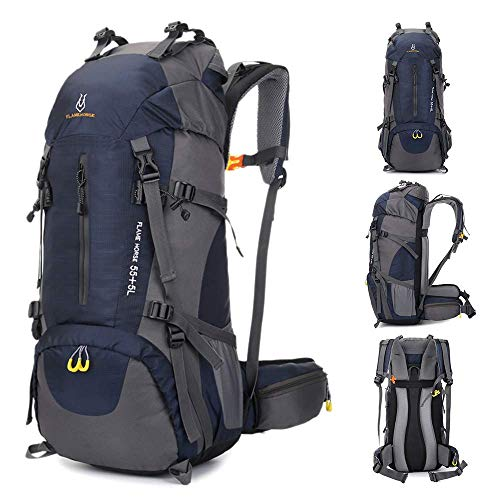 OCCIENTEC Hiking Backpack 50L Mountaineering Backpack 60L Rucksacks with Rain Cover for Men...