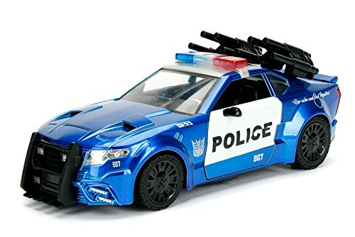 Jada Toys-Maqueta película Transformers 5Barricade Police Car- 1:24, Azul/Blanco