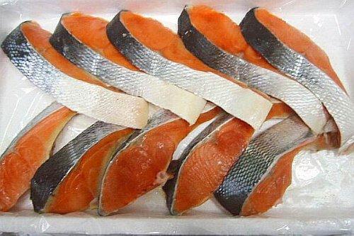 加熱用・紅鮭(ベニサケ)切り身 約100g×10切