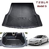 Caucho de servicio pesado Protector Alfombrilla Cubre Maletero para Tesla Modelo S/Model S, Alfombrilla para alfombra resistente al agua con protección contra todo clima,