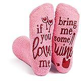 Haute Soiree Damen Socken mit rutschfestem Griff und Geschenkbox, Pink