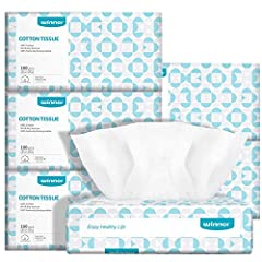 Soft dry wipe: This cotton tissue made out of Cotton only, it's different than paper tissue but can act as paper tissue, except this cotton dry tissue is not flushable. Each wipe is the same size as a facial tissue, but it's twice thicker and stronge...