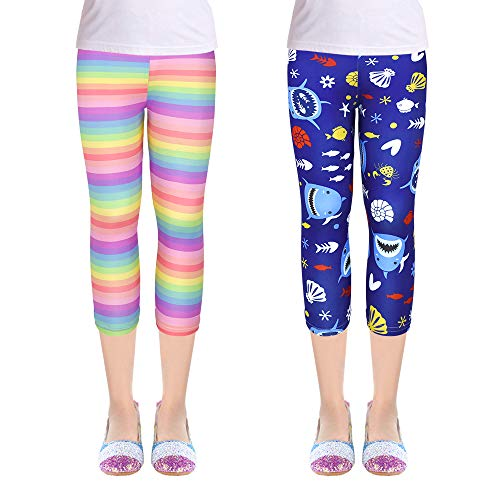 Girls 2-Pack Leggings Tights Kids Stretch Pants $6.99 (50% Off at Checkout)