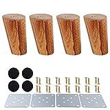 Gambe mobili in legno,piedini in legno per armadietti e tavolini per TV cabinet divano letto tavolo da pranzo confezione da 4 pezzi(8cm,angolo obliquo)