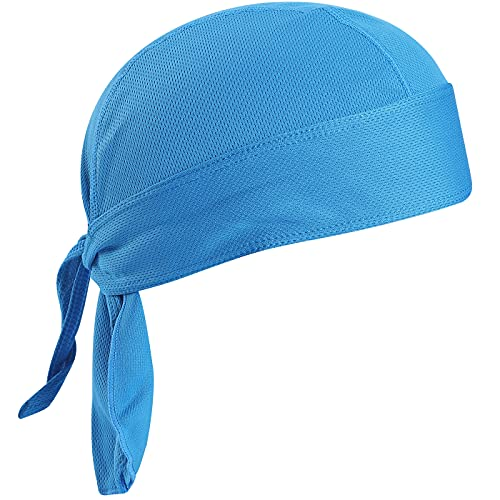 VIAUMBR Bandana Cap Unterm Radhelm Sommer Kopftücher Fahrrad Mütze Kopftuch Piraten Tücher Luftiger Stoff Für Schwimmen Joggen Laufen Wandern Berggehen Radfahren und Motorrad (Blau)