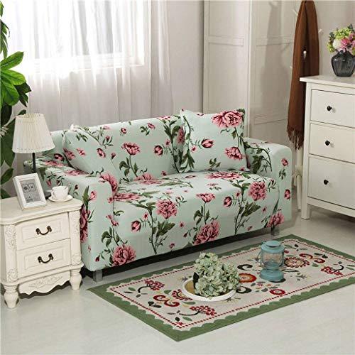 SHAFAJNC Jacquard Sofa Abdeckung,1 Stück Stretch Sofa Couch Bezüge - Spandex Printed Loveseat Couch Schonbezug Sessel Sesselbezug Protector One-BW-1 Sitzer 90-140cm