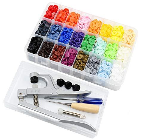 KAM T5 360 Set Druckknöpfe mit KAM Snaps Zange, Schönes Plastikkastenpaket (KAM Snaps und Zangenpaket)