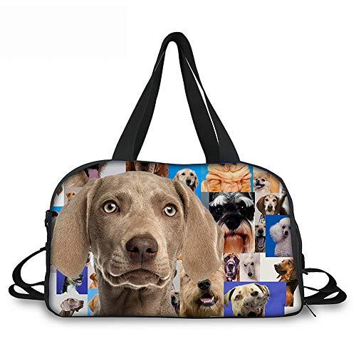 Lolyze Lolyze Custom Bag,Mode Damen Es Travel Taschen Hund Reisen Schultertasche Tasche Große Kapazität Hund2 ONE Size
