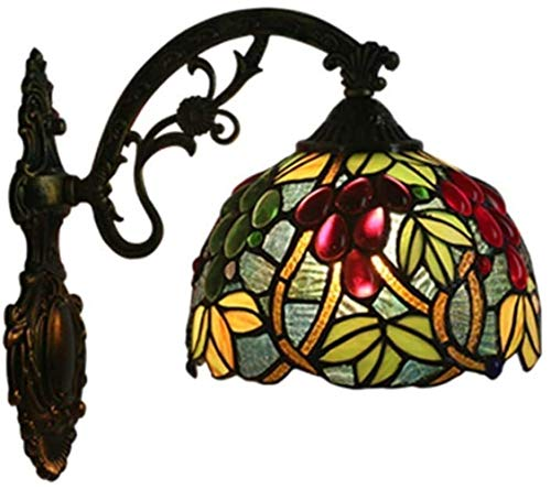 DINGYGJ wandlamp Shade Tiffany wandlamp 8 inch wandlamp Industrial Retro UVA [energieklasse A]
