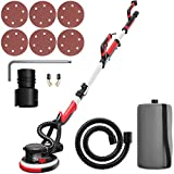 Goplus 750W Drywall Sander with Automatic Vacuum System, Electric Drywall Sander with LED Light and Collection Bag, Variable Speed 900-1800 RPM, Dust-Free Wall Grinding Machine w/ 6 Sand Pads