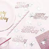 APERIL Happy Birthday Geburtstag Konfetti Silber Stern Konfetti Pailletten, 30g Tischkonfetti, Geburtstag Konfetti für Jungen Mädchen Geburtstagsfeier Dekoration-Roségold - 4