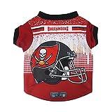Littlearth NFL Tampa Bay Buccaneers Pet Performance T-shirt, Medium