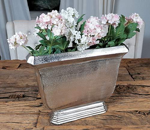 MichaelNoll Vase Blumenvase Gefäß Pokalvase Dekovase Aluminium Silber 36 cm